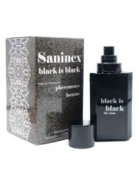 SANINEX BLACK IS BLACK PERFUME CON FEROMONAS HOMBRE