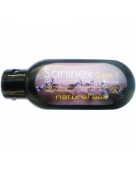 SANINEX 2 EN 1 LUBRICANTE INTIMO Y MASAJE NATURAL SEX 120ML