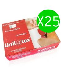 UNILATEX PRESERVATIVOS ROJOS/FRESA 144 UDS X 25 UDS
