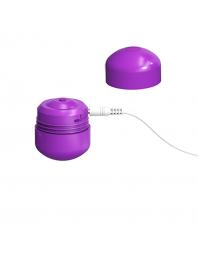 ML CREATION CUTE BULLET POTENTE VIBRADOR RECARGABLE USB LILA