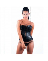 QUEEN CORSETS - ÓNIX LEATHER NEGRO SIZE L