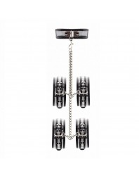 OUCH ADJUSTABLE NIPPLE CLAMPS NEGRO
